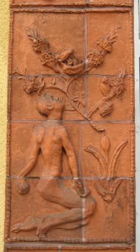 Mensch und Obstbaum, Terrakotta